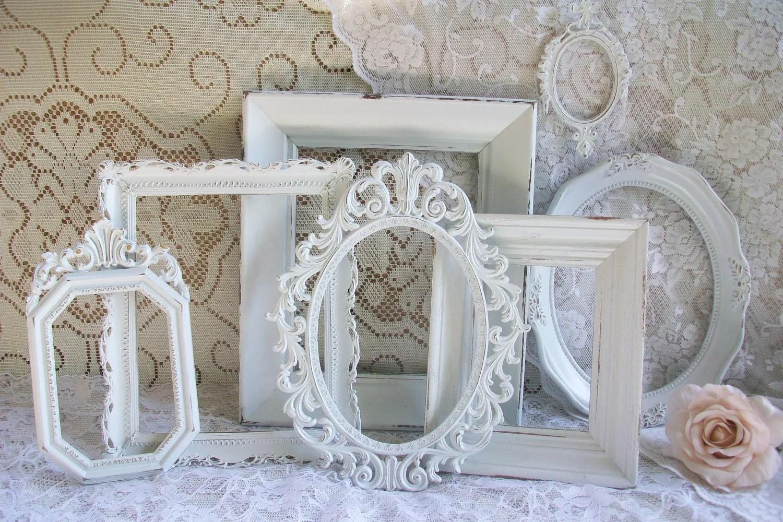 Shabby Chic Frames White Frame Set Vintage Frames Ornate