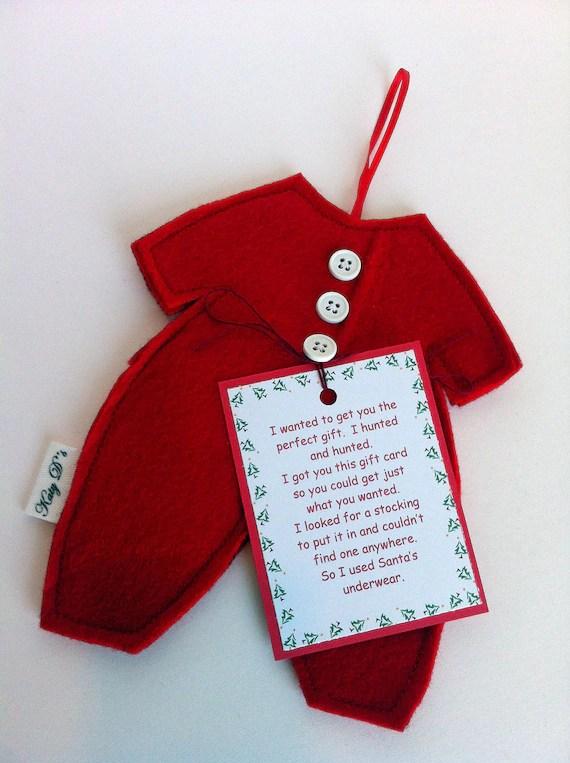 Items Similar To Gift Card Holder Ornament Santas