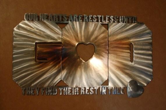 Items Similar To Christian Metal Wall Art--the Word GOD