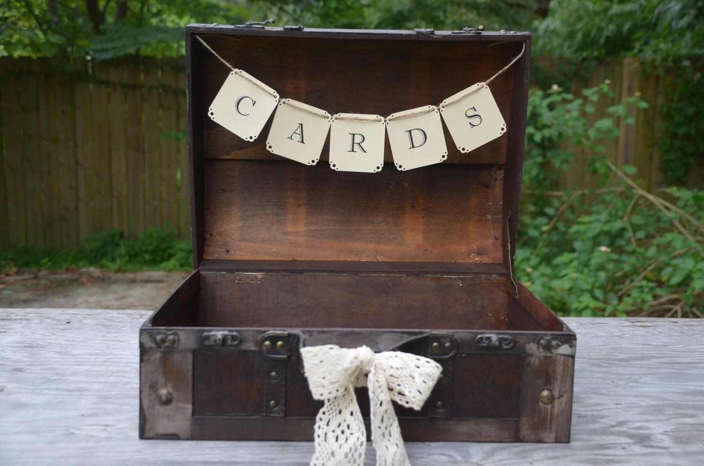 Wedding Suitcase Card Holder Suitcase Card Box Rustic