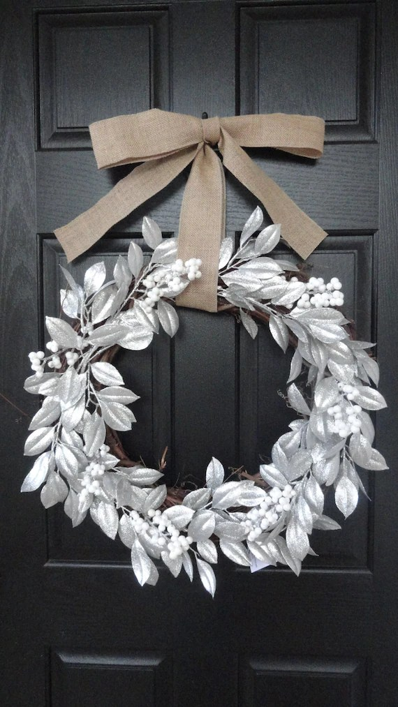 The Perfect Winter Door Wreath Silver By AnnabelleEveDesigns