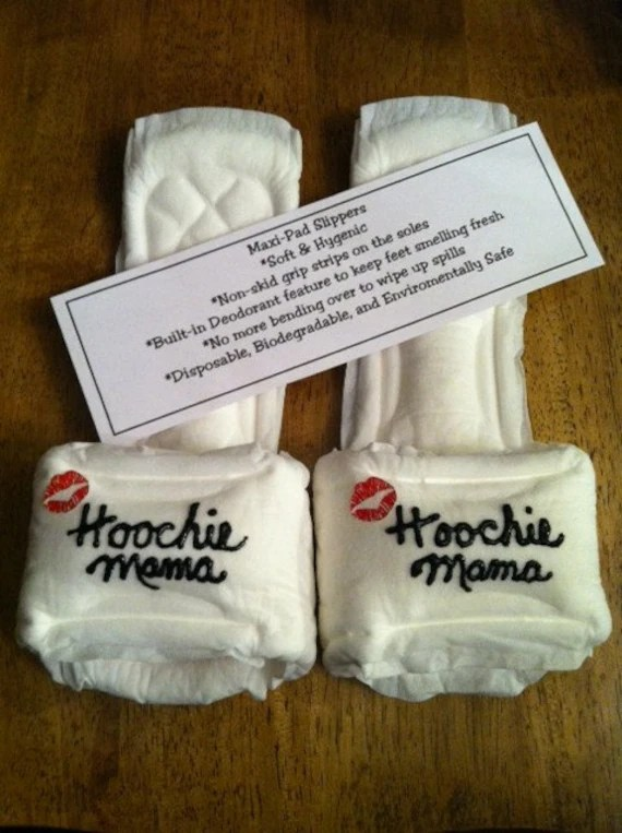 Hoochie Mama Maxi Pad Slippers By Kraftsbydonna On Etsy