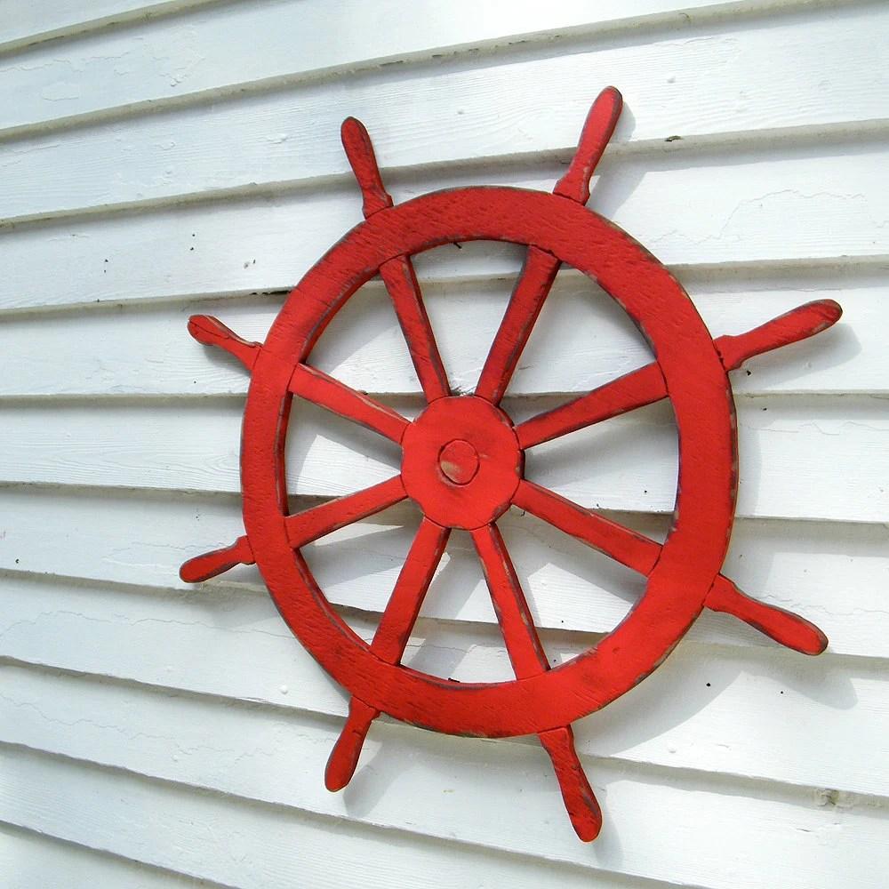 Ships Wheel Sign Nautical Sign Beach Coastal Wall Decor - SlippinSouthern