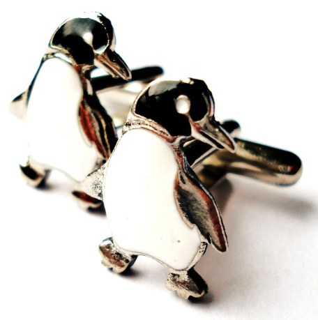 Penguin Cufflinks Set, Gift Box Included, Guaranteed