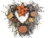 Grapevine Heart Fall Harvest Wreath - SerendipityCandle