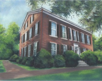 My Old Kentucky Home Chalk Pastel Print