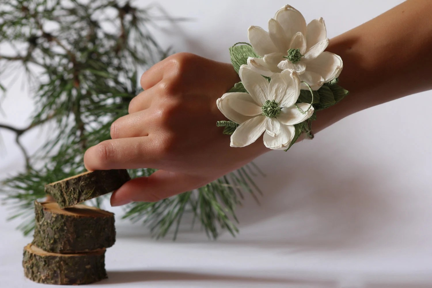 Wedding Corsage Corsage Paper Flower Mothers Corsage Bridal