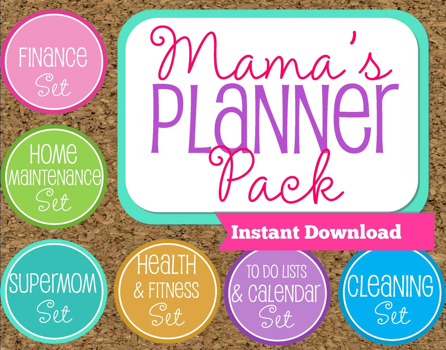 Instant Download Mom Planner Printables Family Organizer