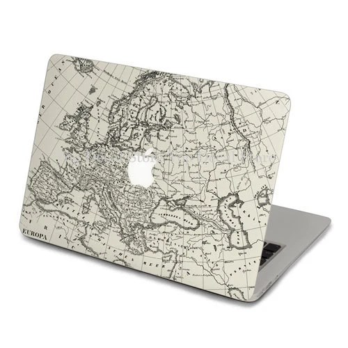 Eur Map Style Macbook Decal front Decal Macbook top Sticker Macbook pro decal  3M front Stickers Apple Decal for Macbook pro/Air(SN79463)