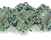 Beaded Green Barrette - Handmade Hair Accessory - MegansBeadedDesigns