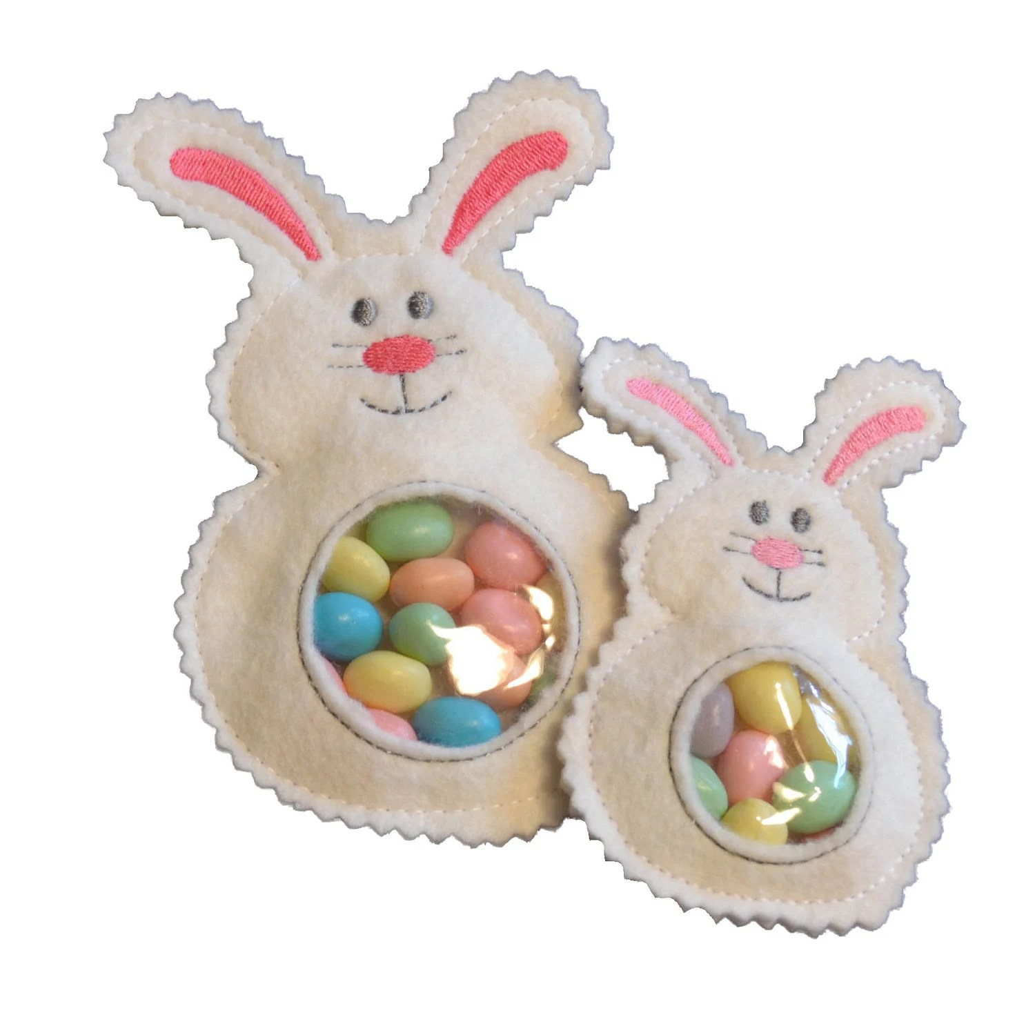 Bunny Candy Cuties In The Hoop Machine Embroidery Pattern