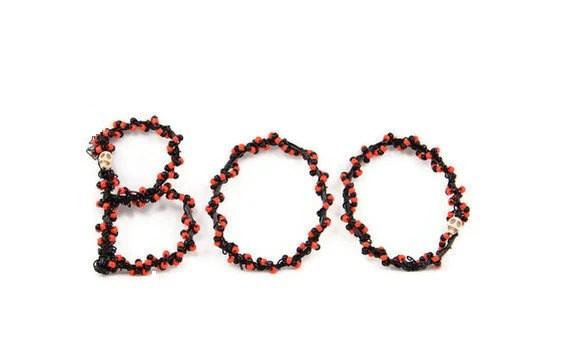 Halloween Decor BOO Beaded Wire Letters - NouveauTique