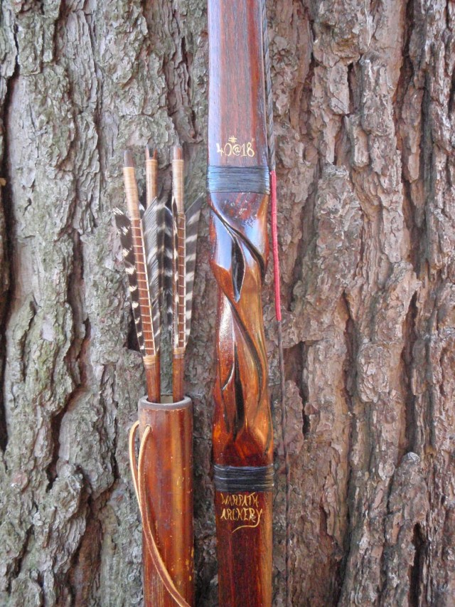 """... 17"""", Red Oak and Bamboo with Carp skin, comes with arrows and quiver"""