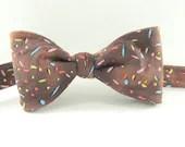 Boys Bow Tie Prop Chocolate with Rainbow Sprinkles Freestyle - HeirloomsbyElisabeth
