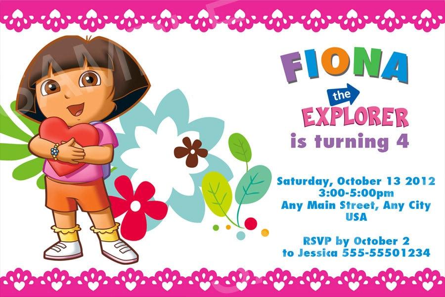 Dora Birthday Invitation Template Luau Birthday Invitation