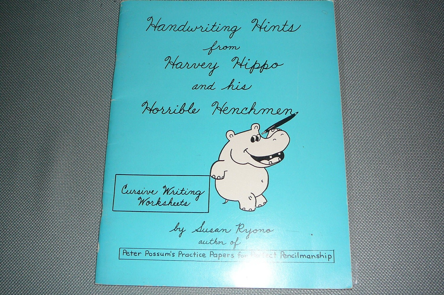 Handwriting Hints From Harvey Hippo And His Horrible