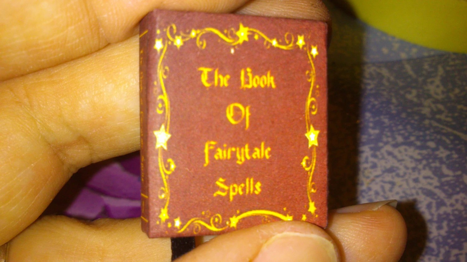 Dolls House 12th Scale Fairy Tale Witch Spell Book Download