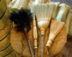Spring Cleaning Brooms and Duster Set in your choice of Natural, Black, Rust or Mixed Broomcorn