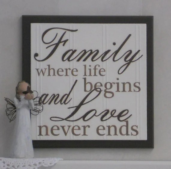 Download Family Where Life Begins and Love Never Ends Wooden Plaque