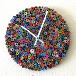 Unique Wall Clock, As Seen In Vogue, Home and Living, Paper Clock, Eco Friendly Decor, Recycled Art, Home Decor