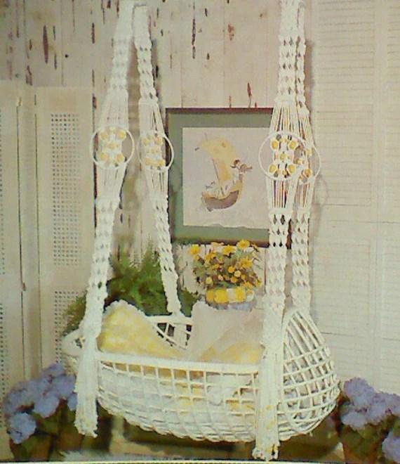 macrame baby crib