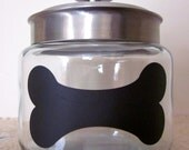 Chalkboard Dog Treat Jar- Perfect for Pet Lovers - EtcherGirlsExpanded