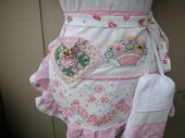 Aprons - Half Aprons - Shabby Chic Aprons - Cottage Chic Apron - Handmade and Lacy Aprons - Handmade Vintage Inspired Aprons - AnniesAttic
