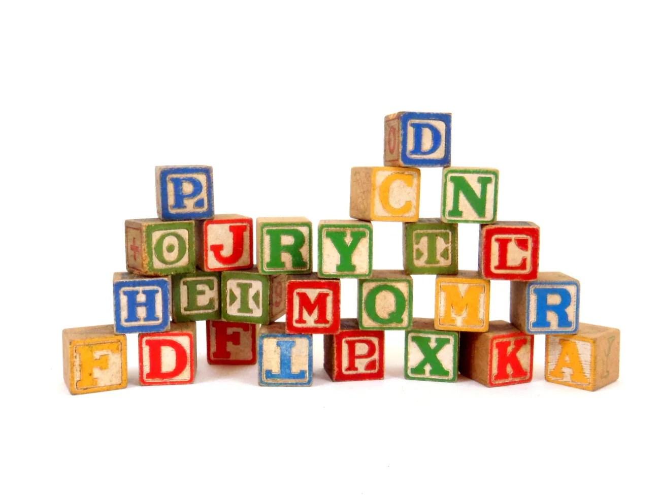 Wooden Blocks Baby Blocks Alphabet Blocks Wood Blocks Letter