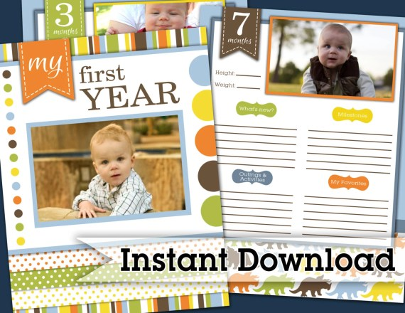 The First Year Keepsake Book from Darling Doodles
