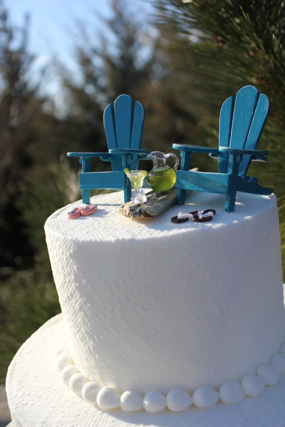 Beach Theme Wedding Cake Topper By LandscapesNMiniature On