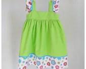 SALE - Girls dress - Girls floral Green dress 3T