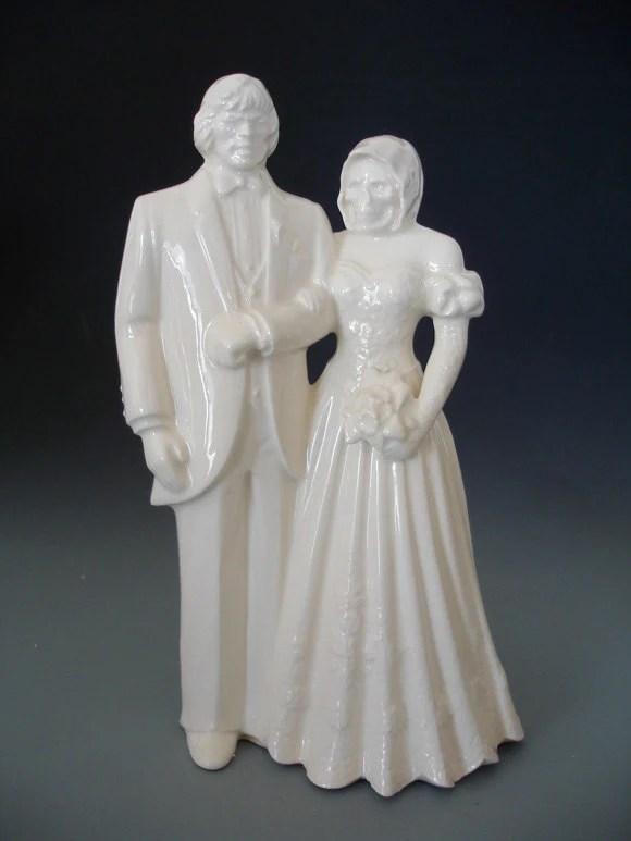Groom Heman And Bride Skeletor Getting Married Sculpture Or