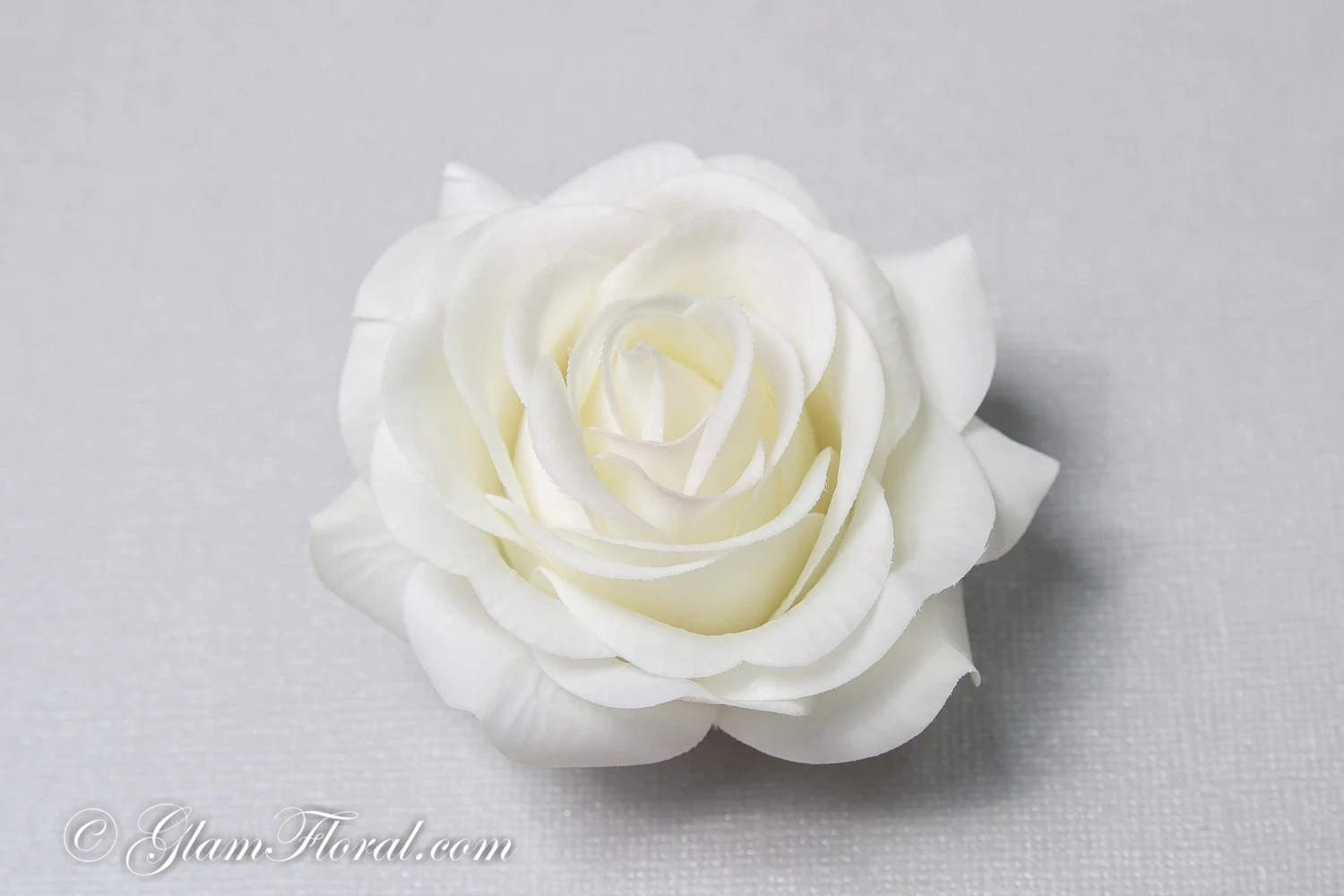 Creme White Rose Hair Clip Real Touch Wedding Hair Fascinator