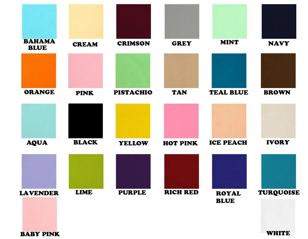 Solid Color Fabric Hair BowsPastel Fabric Hair By