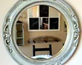 Vintage Round Distressed Mirror - JandEGenuine