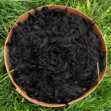 Suri Alpaca Fiber - True Black