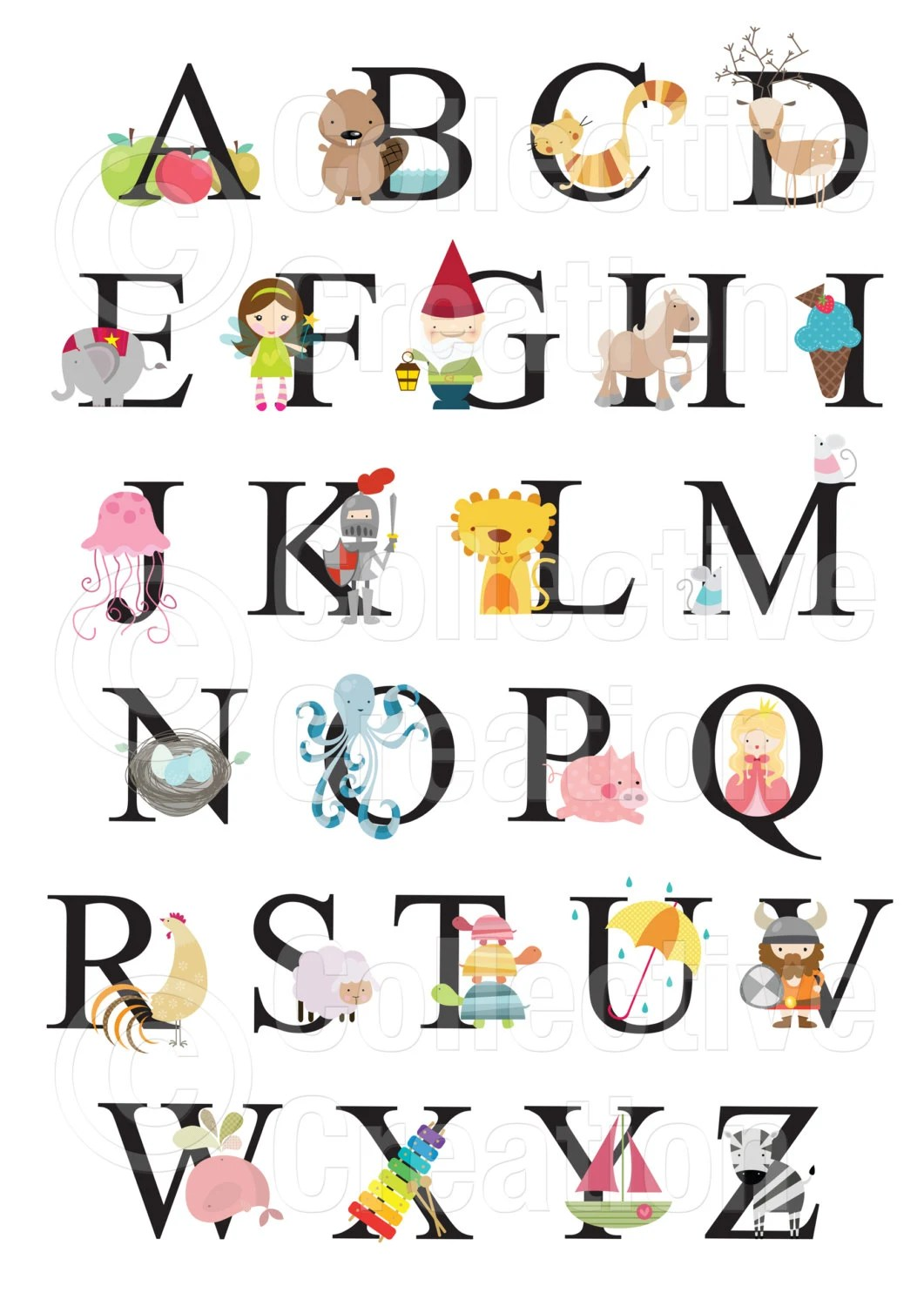 Alphabet Wall Chart Commercial And Personal By