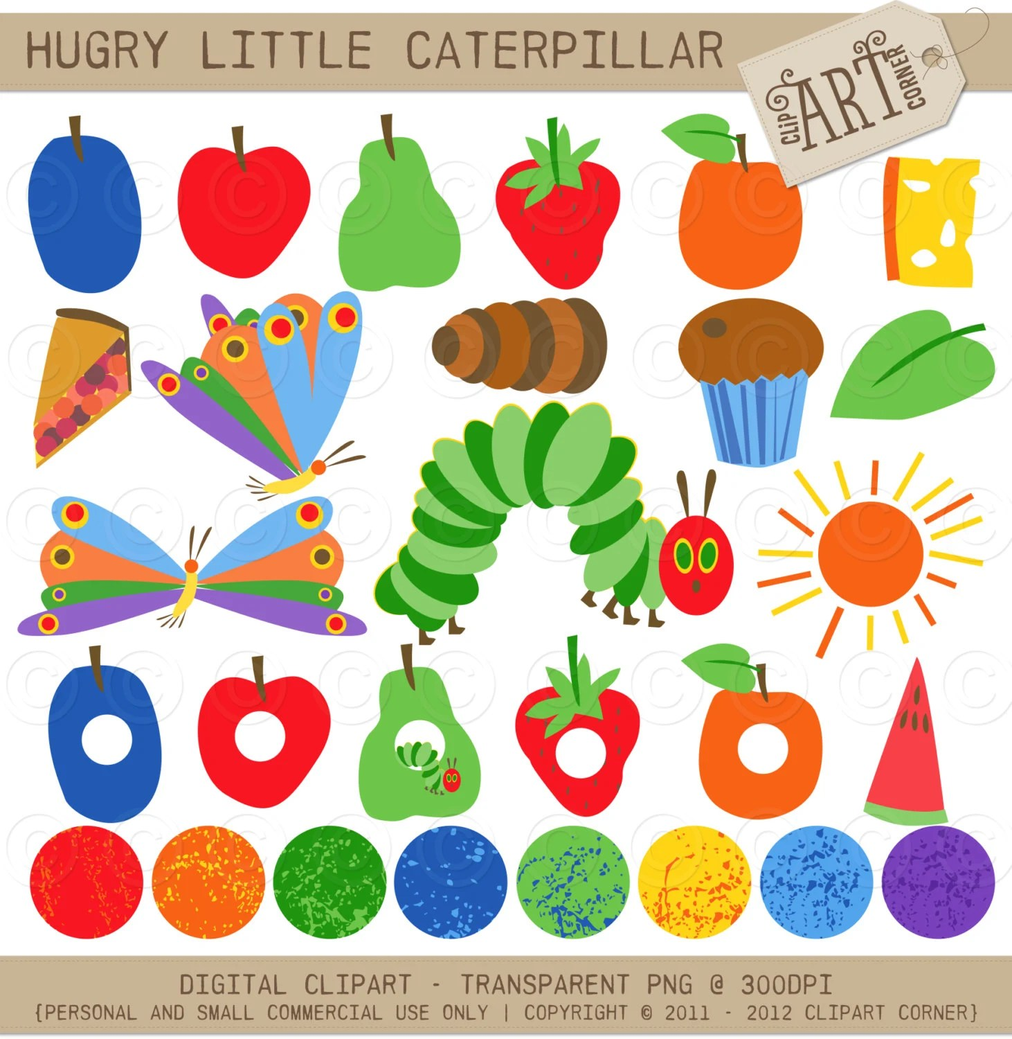 Clipart Combo The Happy Caterpillar Clip Art By