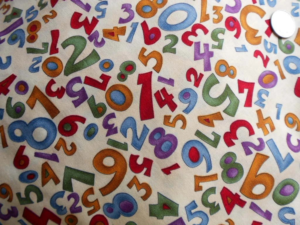 Three Yards Scrambled Numbers On Cream Background Hoffman