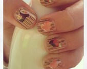 SUSHI NIGHT  NAILS fun water slide decals - chachacovers