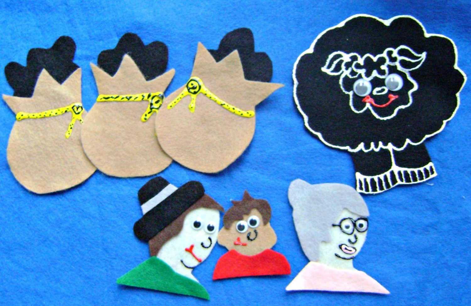 Baa Baa Black Sheep Flannel Board Felt Board By