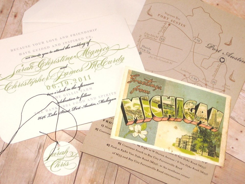 Vintage Travel - Wedding Invitation