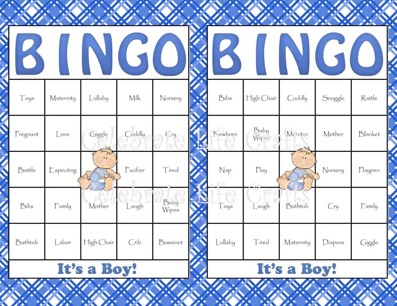 30 Baby Shower Bingo Cards Diy Printable By Celebratelifecrafts