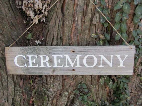 ceremony sign etsy