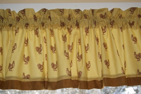 Waverly Pecking Order Red Gold Toile Valance 17 X