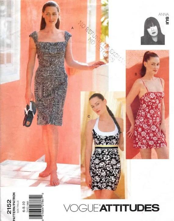 1990s Anna Sui summer dress pattern - Vogue 2152