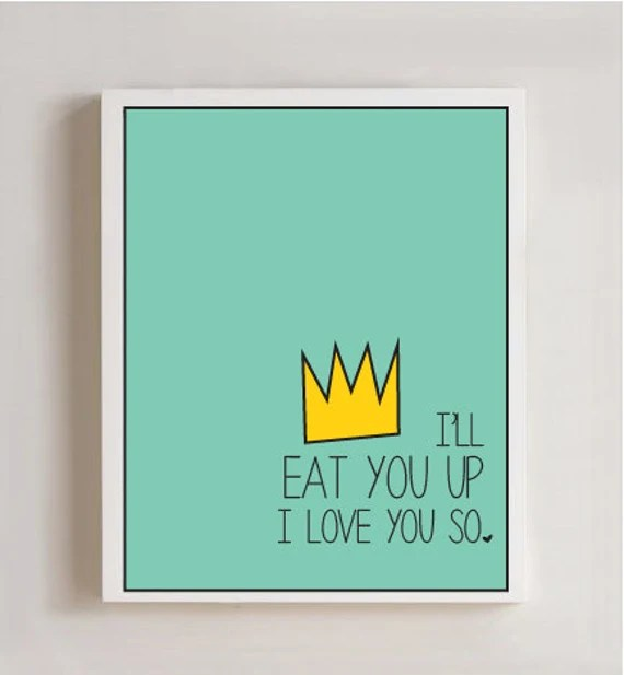 Download I'll Eat You Up I Love You So 8x10 Nursery by thecrookednook1