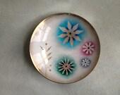 Small Danish Modern MidCentury Enamel Plate - LoblollyCove