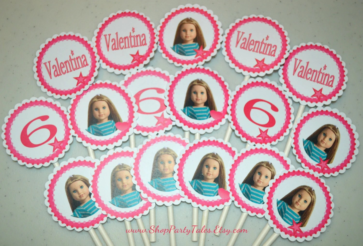 American Girl Doll Printable Valentines Birthday By Shoppartytales