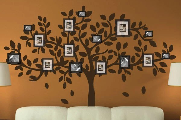 Modern Family Tree Wall Decal Sticker Picture Frame Tree